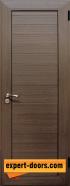 Алуминиева врата за баня, цвят Орех