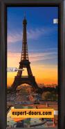Стъклена интериорна врата Print G 13-12 с каса Венге