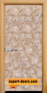 Стъклена интериорна врата Fabric G 12-1 Gold, каса Светъл дъб