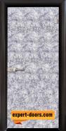 Стъклена интериорна врата Fabric G 12-1 Silver, каса Венге