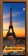Стъклена интериорна врата Print G 13-12 с каса Златен дъб