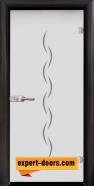 Стъклена интериорна врата Gravur G 13-1, каса Венге