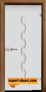 Стъклена интериорна врата Gravur G 13-1, каса Златен дъб