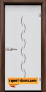 Стъклена интериорна врата Gravur G 13-1, каса Орех