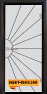 Стъклена интериорна врата Gravur G 13-2, каса Венге