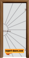 Стъклена интериорна врата Gravur G 13-2, каса Златен дъб