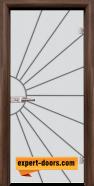 Стъклена интериорна врата Gravur G 13-2, каса Орех