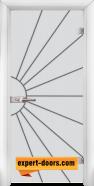 Стъклена интериорна врата Gravur G 13-2, каса Бяла