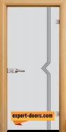 Стъклена интериорна врата Gravur G 13-3, каса Светъл дъб