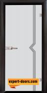 Стъклена интериорна врата Gravur G 13-3, каса Венге