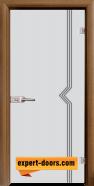 Стъклена интериорна врата Gravur G 13-3, каса Златен дъб