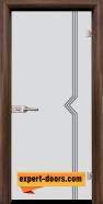 Стъклена интериорна врата Gravur G 13-3, каса Орех