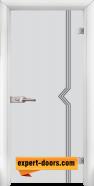 Стъклена интериорна врата Gravur G 13-3, каса Бяла