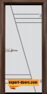 Стъклена интериорна врата Gravur G 13-4, каса Орех