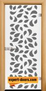 Стъклена интериорна врата Print G 13-1, каса Светъл дъб