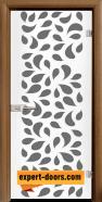 Стъклена интериорна врата Print G 13-1, каса Златен дъб