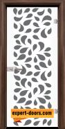 Стъклена интериорна врата Print G 13-1, каса Орех