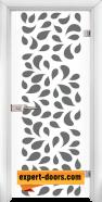 Стъклена интериорна врата Print G 13-1, каса Бяла
