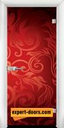 Стъклена интериорна врата Print G 13-11, каса Бяла