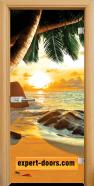 Стъклена интериорна врата Print G 13-14, каса Светъл дъб