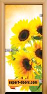 Стъклена интериорна врата Print G 13-4, каса Светъл дъб