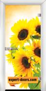 Стъклена интериорна врата Print G 13-4, каса Бяла