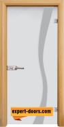 Стъклена интериорна врата Sand G 14-1, каса Светъл дъб