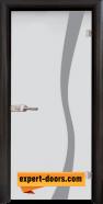 Стъклена интериорна врата Sand G 14-1, каса Венге