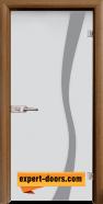 Стъклена интериорна врата Sand G 14-1, каса Златен дъб