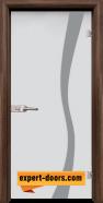 Стъклена интериорна врата Sand G 14-1, каса Орех