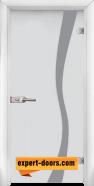 Стъклена интериорна врата Sand G 14-1, каса Бяла