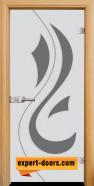 Стъклена интериорна врата Sand G 14-10, каса Светъл дъб