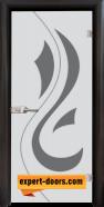 Стъклена интериорна врата Sand G 14-10, каса Венге