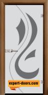 Стъклена интериорна врата Sand G 14-10, каса Златен дъб