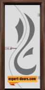 Стъклена интериорна врата Sand G 14-10, каса Орех