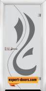 Стъклена интериорна врата Sand G 14-10, каса Бяла