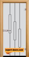 Стъклена интериорна врата Sand G 14-11, каса Светъл дъб