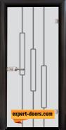 Стъклена интериорна врата Sand G 14-11, каса Венге