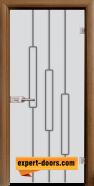 Стъклена интериорна врата Sand G 14-11, каса Златен дъб