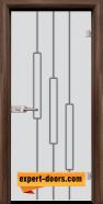 Стъклена интериорна врата Sand G 14-11, каса Орех