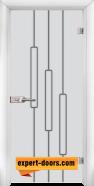 Стъклена интериорна врата Sand G 14-11, каса Бяла