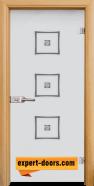 Стъклена интериорна врата Sand G 14-3, каса Светъл дъб