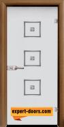 Стъклена интериорна врата Sand G 14-3, каса Златен дъб