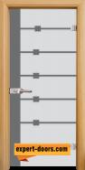 Стъклена интериорна врата Sand G 14-5, каса Светъл дъб