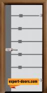 Стъклена интериорна врата Sand G 14-5, каса Златен дъб