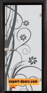 Стъклена интериорна врата Sand G 14-7, каса Венге