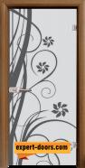 Стъклена интериорна врата Sand G 14-7, каса Златен дъб