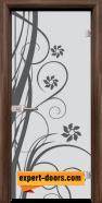 Стъклена интериорна врата Sand G 14-7, каса Орех