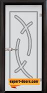 Стъклена интериорна врата Sand G 14-9, каса Венге