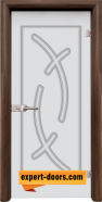 Стъклена интериорна врата Sand G 14-9, каса Орех